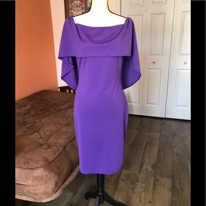 GRACE KARIN purple sheath style dress